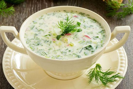 سوپ سرد، پیش غذای روز های گرم