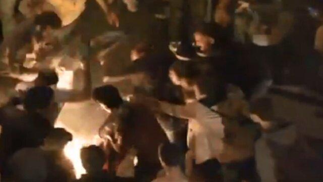 خودسوزی یک معترض لبنانی در میدان ریاض الصلح بیروت