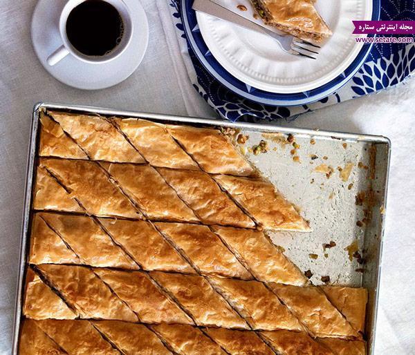 طرز تهیه و دستور پخت باقلوا ترکی با خمیر فیلو