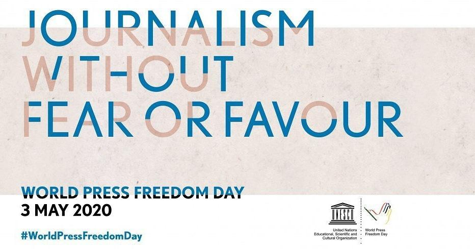 روز جهانی آزادی رسانه با شعار فعالیت روزنامه نگاری بدون ترس