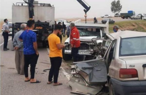 خبرنگاران تصادف 2 خودرو در دزفول یک کشته و چهار مصدوم برجا گذاشت